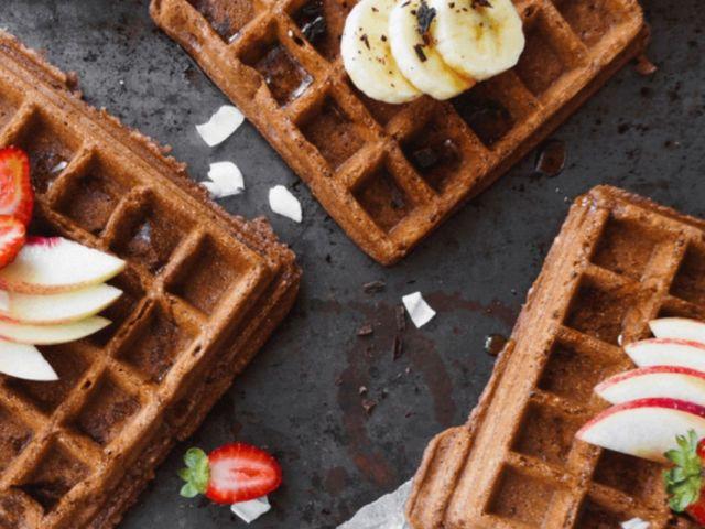 Vegan Spelt Cocoa Waffles